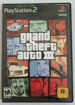 Grand Theft Auto III PS2 Game 2001 Rockstar Games No Manual Playstation 2 - $4.89
