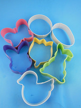 Wilton Easter Metal Cookie Cutters Set of Seven 7 Pastel Flowers Butterf... - $9.08 CAD