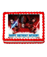 Star Wars The Last Jedi party edible cake image cake topper frosting sheet - $7.80