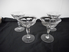 Heisey Colonial Champagne Glasses #359 4 Pieces All Marked Heisey - $12.00