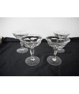 Heisey Colonial Champagne Glasses #359 4 Pieces All Marked Heisey - $14.00