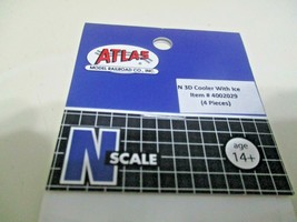Atlas # 4002029 Cooler With Ice 4 Pieces 3D Printed Accessories N-Scale image 2