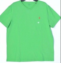 Polo Ralph Lauren Men's V- Neck Short Sleeve Solid T- Shirt Barbados Gre... - $18.69