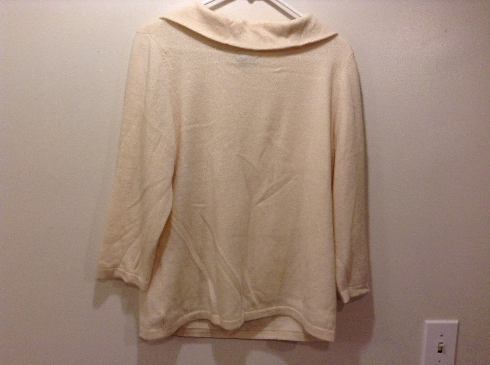 Charter Club Peach Colored Cashmere Turtleneck Sweater Sz XL