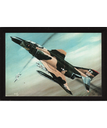 """4"""" X 6"""" Wooden Plaque with a Painting of a McDonnell Douglas F-4 (Phantom) - $7.87"""