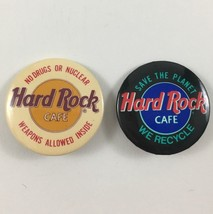 Hard Rock Cafe Save The Planet No Drugs No Nuclear Pins Buttons Pinback Pins - $10.93