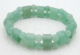 VTG Green Jade Jadeite Stretch Bracelet 28 grams - $47.52