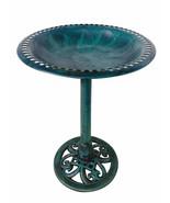 """AM5166 Birdbath Green 28"""" Height Pedestal Bird Bath Antique Outdoor Gard... - $62.99+"""