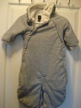 Baby Gap Bunting Snowsuit Stroller Sack Furry Fleece Size 3-6 months - $45.16