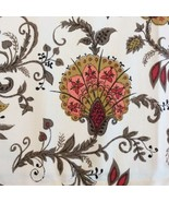"Vintage Jacobean Fabric Cotton Flourishes Decorative 47"" X 108"" 3 Yards - $56.50"