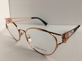 New Versace 5012 1312 Gold 52mm Round Women's Eyeglasses Frame Italy #2 - $199.99