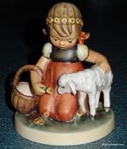"""""""Favorite Pet"""" Goebel Hummel Figurine #361 Girl With Baby Sheep TMK5 XMA... - $74.16"""