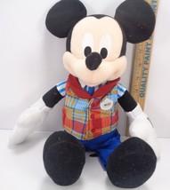 Disney Exclusive Mickey Cast Member Disney Employee 16 Inch Plush Toy - $25.83