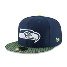 Seattle Seahawks New Era 2017 5950 59FIFTY Fitted Hat Navy 11462064 sz 7... - $29.69