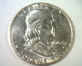 1963-D FRANKLIN HALF DOLLAR CHOICE ABOUT UNCIRCULATED CH. AU NICE ORIGIN... - $13.00
