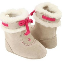 Baby Deer Suede Fur Girl's Infant Toddler Walking Boots Shoes Sizes 0 1 2 3