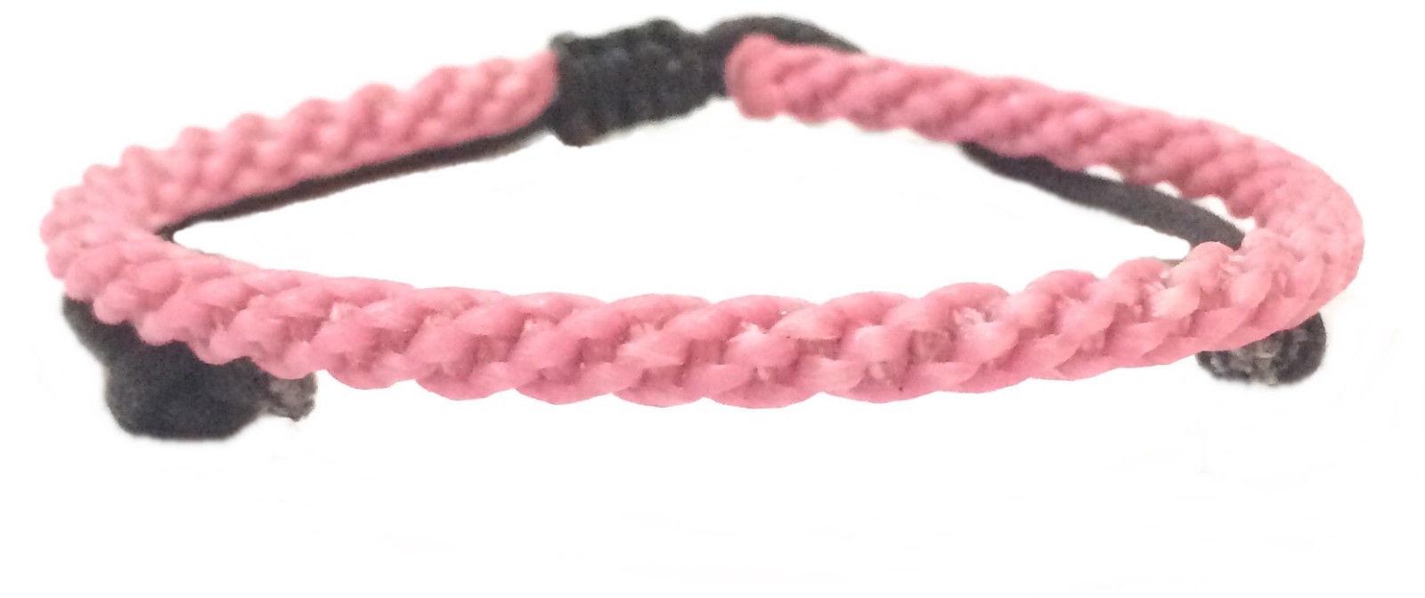 Fair Trade Waxed Braid Weave Cord Thai Buddhist Mens Cotton Wristband Wristwear
