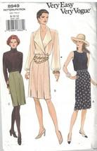 8949 non Découpé Vogue Couture Motif Femmes Semi Ajusté Droit Jupe Facil... - $6.88