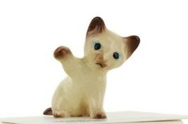 Kitten Paw Up Ceramic Siamese Cat Figurine - Miniatures by Hagen-Renaker... - $7.29