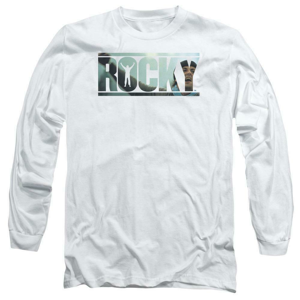 Rocky Retro Boxing Movie Balboa Creed graphic long sleeve white T-shirt MGM239