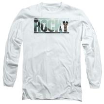 Rocky Retro Boxing Movie Balboa Creed graphic long sleeve white T-shirt MGM239 image 1
