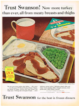 Vintage 1963 Magazine Ad Swanson Frozen TV Dinners Made By Campbell Soup... - $5.93