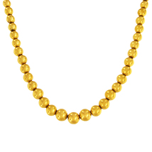 Round 14k Yellow Gold Sphere Beaded Necklace - $1,750.00