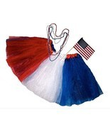 Southern Wrag CO Big Girls July 4th American Flag Deluxe Tutu Meausres 2... - $49.34