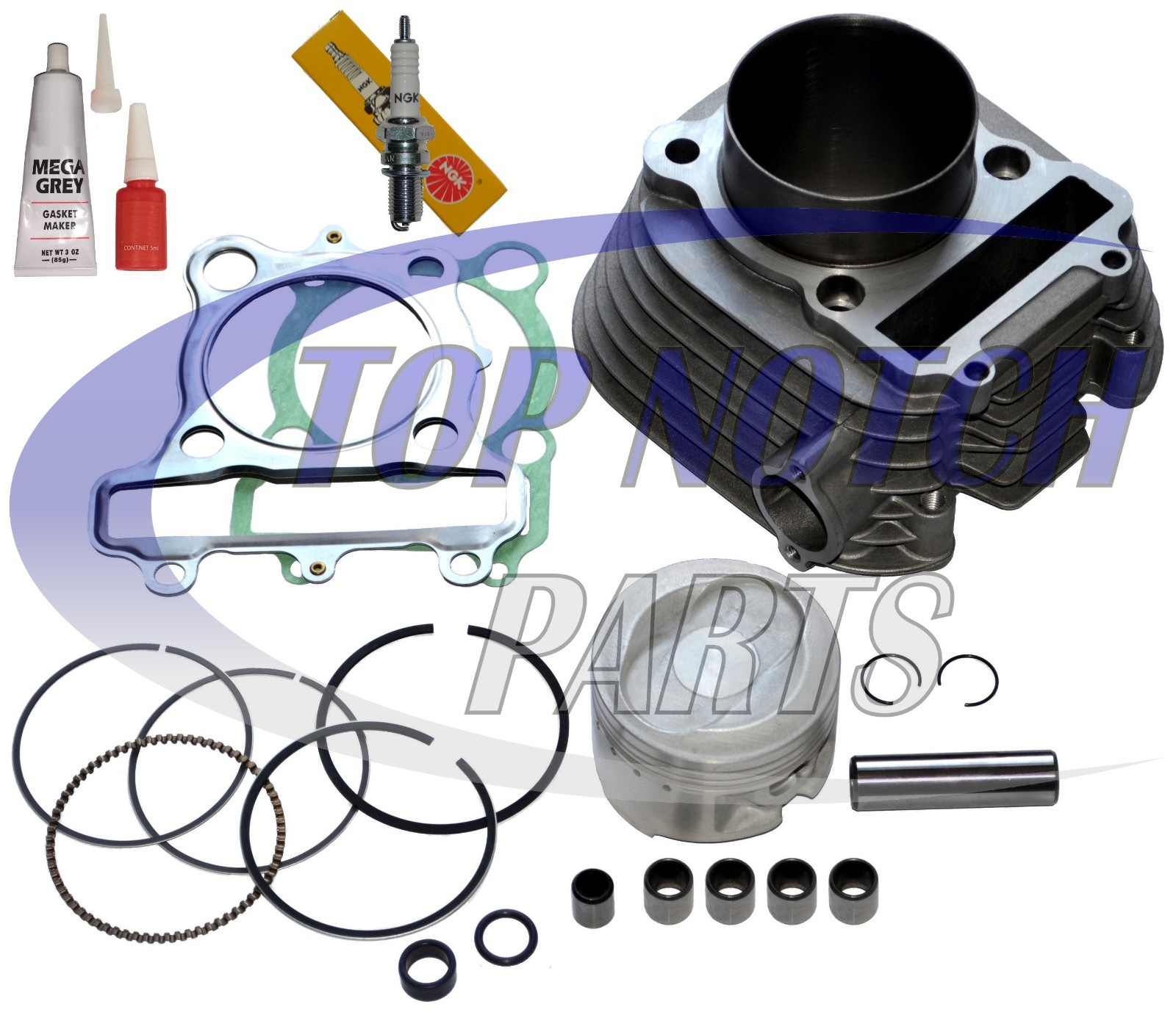 Fits Yamaha Tri-Moto 225 YFM225 Cylinder Piston Gasket Kit 1983 1984 1985 1986 c