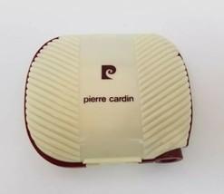 Pierre Cardin Plastic Compact w Mirror Brushes Lipstick Container Burgun... - $17.01