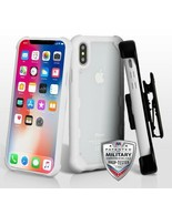 For APPLE iPhone XS/X Transparent Clear/White FreeStyle Challenger Hybri... - $14.56