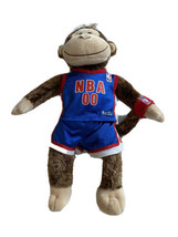 "NBA 00 Uniform Shoes Build A Bear BABW Plush 18"" Monkey Chimp Stuffed Ba... - $24.74"