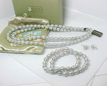 NWT - HONORA Ringed Cultured PEARLS JEWELRY SET Necklace Earrings and Bracelets