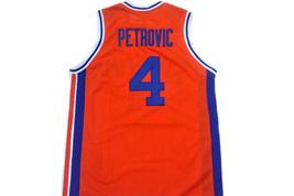 Drazen Petrovic #4 Sibenka Croatia Men Basketball Jersey Orange Any Size image 5