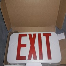 All-Pro APX7R Self Powered White Single or 2 Sided LED Exit Red Letters NEW - $17.43