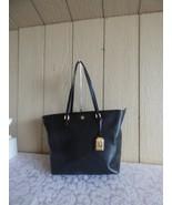 $168.00 Lauren Ralph Lauren Halee II Saffiano Leather Shopper, Black - $57.42