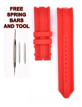 Nautica A16602G 22mm Red Rubber Watch Strap Band NTC122 - $28.71