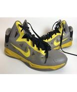 Men's Nike Zoom Hyperchaos Gray Yellow Basketball Shoes 536841 007 Size 13 - $34.64