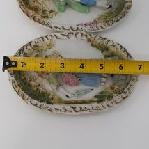 """Hand Painted Pastel Bisque Wall Plaques, Colonial Pair. """"Occupied Japan"""" image 3"""
