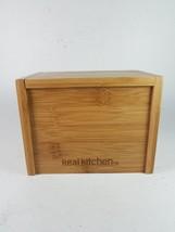Wood Real Kitchen Recipe Menu Box Storage - $9.45