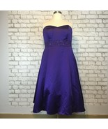 David's Bridal Purple Strapless Bridesmaid Gown Dress Style F15413 Size 20 - $35.99