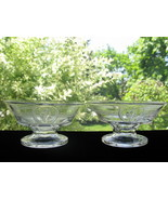 Antique Early American Pattern Glass Cupid & Venus Ftd. Sauce Dishes -Pr. - $18.00