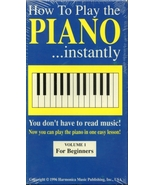 How to Play the Piano VHS new never opened - $0.25