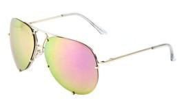 Large Rimless Aviator Sunglasses Mirror Lens Runway Fashion Mens Womens ... - $15.25