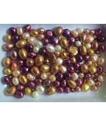 BURGUNDY COPPER  FW PEARLS BEAD MIX FALL  COLORS - $8.99