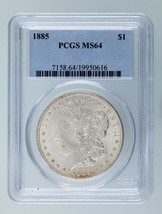 1885 $1 Silver Morgan Dollar Graded by PCGS as MS64! Nice Morgan! - $98.99