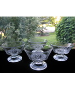 Antique Early American Pattern Glass Cupid & Venus Ftd. Sauce Dishes -Se... - $25.00
