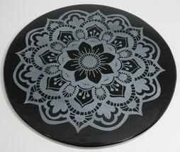 Decorated black obsidian mirror - Nava Padma Ma... - $75.00