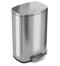SoftStep 13.2 Gal. Stainless Steel Step Kitchen Trash Garbage Can Smudge... - $112.36