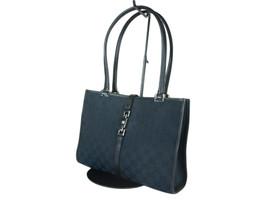 GUCCI Jackie GG Web Canvas Leather Black Shoulder Bag GS2444 - $389.00